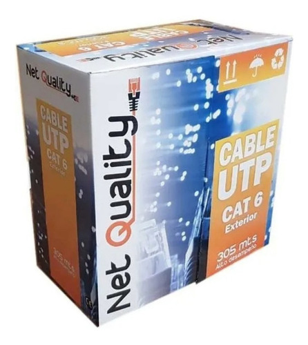 Cable Utp Exterior Cat 6 X 305mts Cable De Red Cat6 Red Cctv