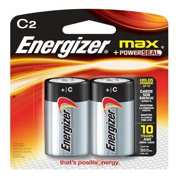 Pilhas Energizer Max C2 Alcalínas Cartela Com 2 Pilhas