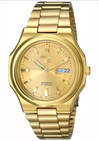 Relógio Seiko 5 Snkk52 Em Aço Inoxidável Tom Dourado