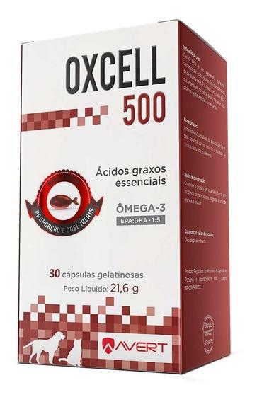 Suplemento Cães Gatos Avert Oxcell 500 30cápsulas