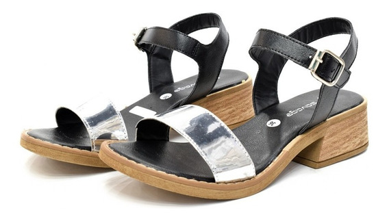 Sandalia Mujer Zapatos Savage 2019 Dama Moda Plata Fb 141