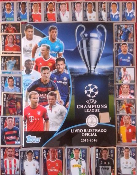 Álbum Champions League 2015/2016 Com 100 Figurinhas P/ Colar