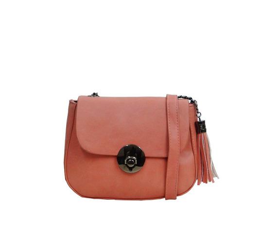 Bolsa Pequena Com Chaveiro De Franjas 6 Cores
