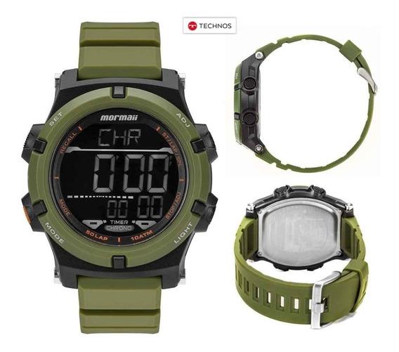 Relógio Mormaii Pro Verde Exército Technos Original Nfe