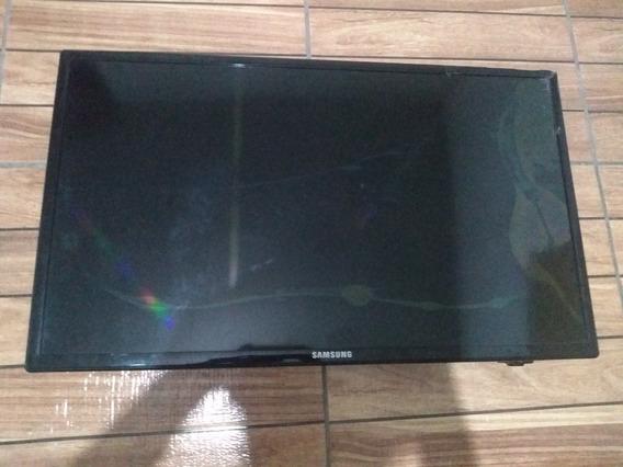 Televisão Tv Samsung Quebrada Para Retirada De Peças