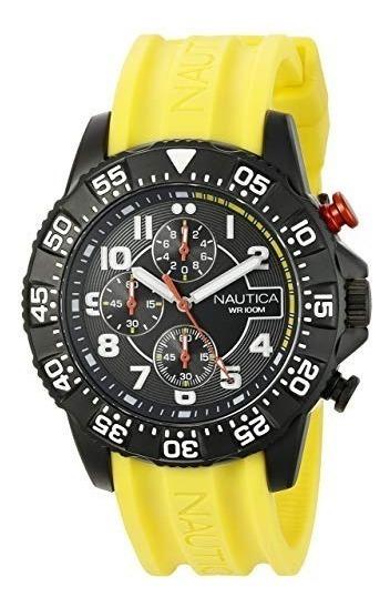 Reloj Nautica Nad17515g Cronógrafo Silicona /100m