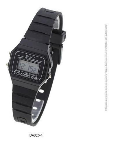 Reloj Dakot Unisex 320 - Caucho Wr Crono Alarma Luz Vintage