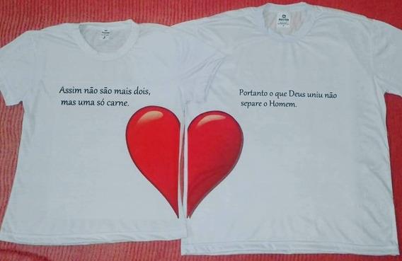Camiseta Casal O Que Deus Uniu,,,
