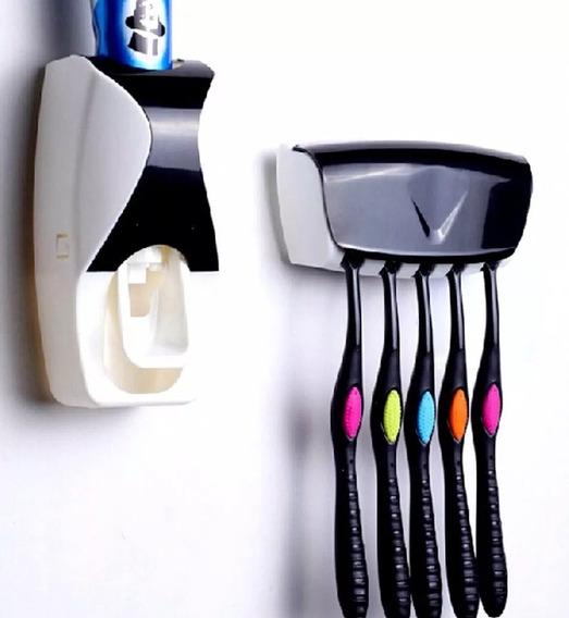 Suporte Dispenser De Pasta De Dente Automático Porta Escovas