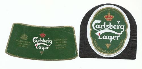 Rótulo Antigo Carlsberg Lager -  Ab2