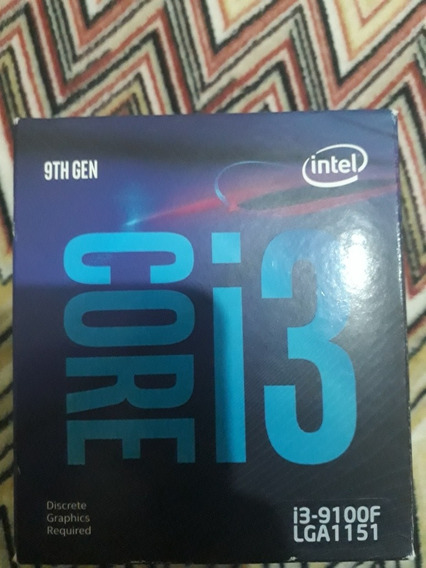 Processador I3 9100f
