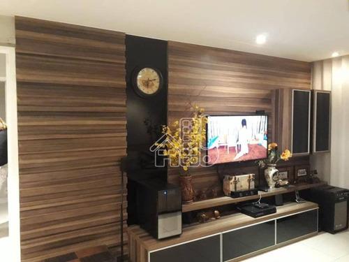 Apartamento Com 3 Dormitórios À Venda, 106 M² Por R$ 650.000,00 - Santa Rosa - Niterói/rj - Ap2888