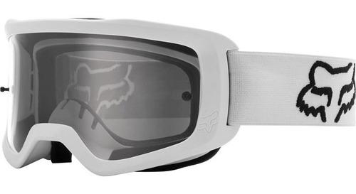 Imagen 1 de 3 de Goggle Fox Main Stray Blanco Motocross Enduro Mtb