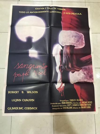 Antiguo Afiche De Cine Sangriento Papa