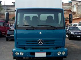 Mercedes-benz 1718 Azul Baú De 7 Metros 10/11 Fino