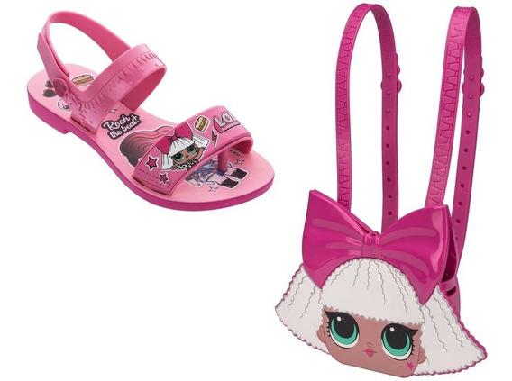 Sandália Infantil Lol Diva Bag + Mochila - Grendene 22117