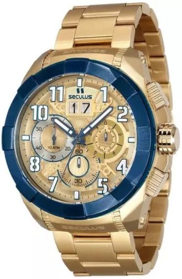 Relógio Seculus Masculino Upper 13009gpsvla2