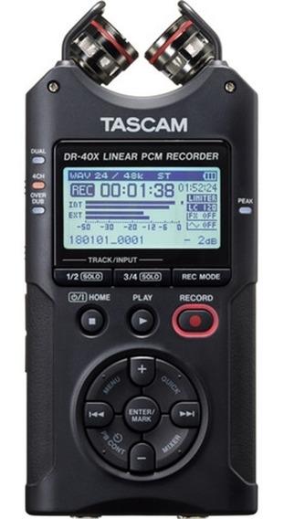 Gravador De Áudio Tascam Dr-40x 4 Canais