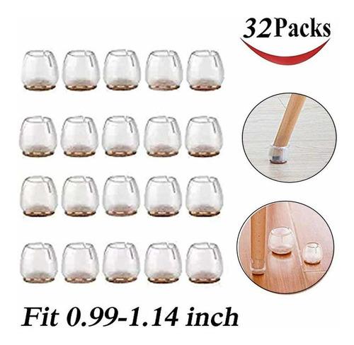 32 Paquete Silla Tapas De Patas Protector De Piso De Silicon