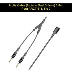 Cabo Original Steelseries Dual P2 (mic+fone) Arctis 3, 5, 7