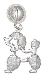 Imagem 1 de 1 de Berloque Prata Cachorro Poodle