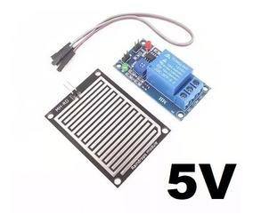 Módulo Relé + Sensor Chuva 5v Ou 12v Automação Arduino