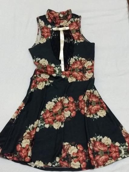Vestido Florido M Sem Manga Bella Jú