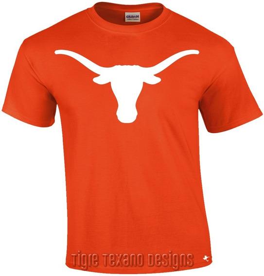 Playera Longhorns Universidad Texas M01 Tigre Texano Designs