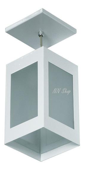 Kit 4 Pendente Externo Interno 4 Vidros Branco