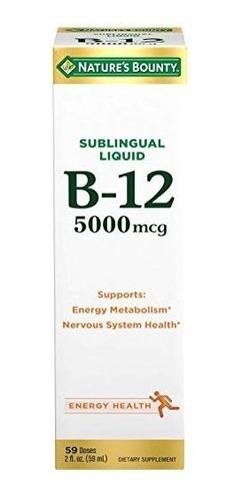 Nature's Bounty B-12 5000 Mcg Sublingual Liquid Energy Heal