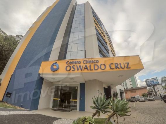 Sala Comercial No Edifico Oswaldo Cruz, Bairro Ribeirão Fresco, Com Aproximadamente 80 M² E 2 Banheiros. - 3571725