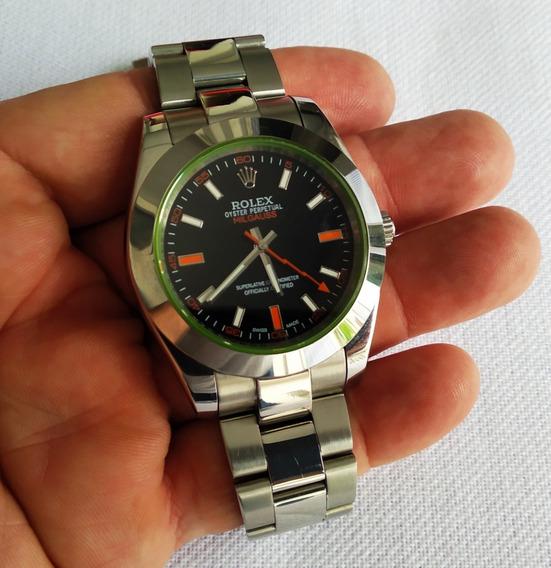Relógio R Milgauss Automático Fundo Preto Lindo 40mm Veja