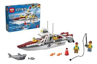 Lego City Barco De Pesca Juguetes Niños 159pcs Legos 02028