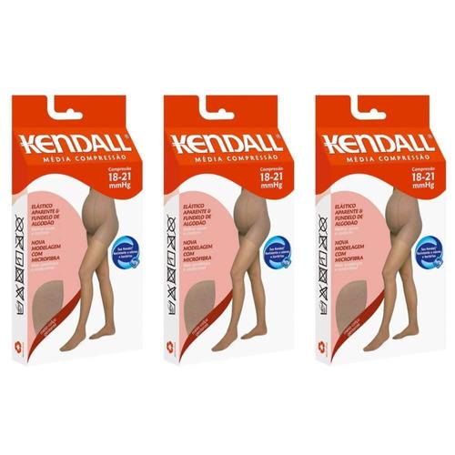 Kendall 1337 Meia Calça Média Comp Gestante Gg (kit C/03)