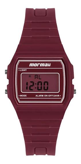 Relógio Feminino Digital Vermelho Mormaii Quadrado Original