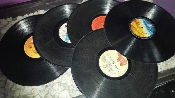 Set 10 Discos De Vinilo Decorativos Sin Tapas