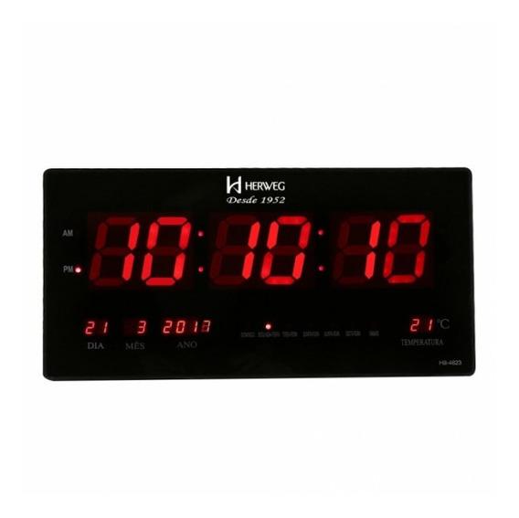 Relógio De Parede Digital Herweg 6464