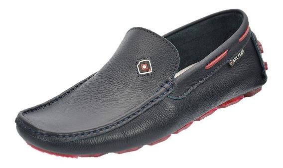 Sapato Masculino Sapatilha Mocassim De Couro Top Ref:789