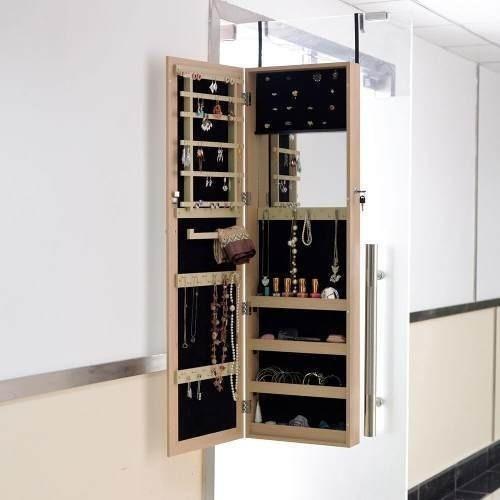 Wood - Espejo Gabinete Armario Joyas Pecho Porta Anillo-8213
