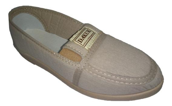 Zapatilla Zapato Mocasin Tela Dama Mujer Dakuk 550 35 Al 41