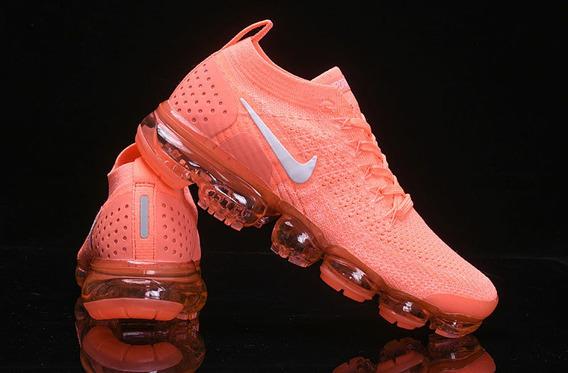 Tênis Nike Vapormax Flyknit 2 Feminino Tam 36 Laranja Neon