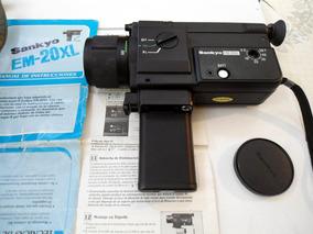 Filmadora Super 8 Sankyo E-20 Xl Anos 70! C/ Bolsa !!