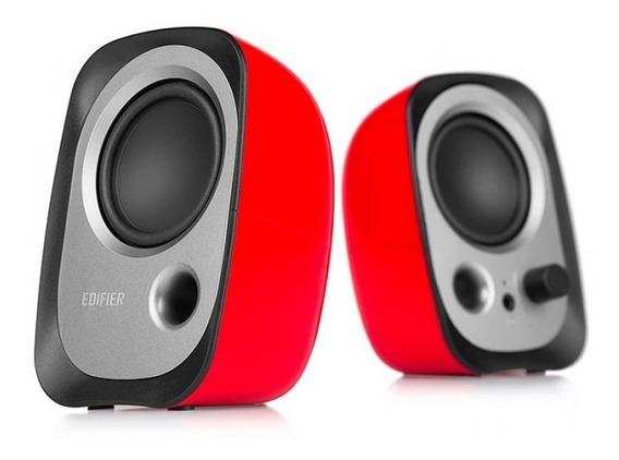 Caixa De Som Para Pc Edifier R12u - Vermelha