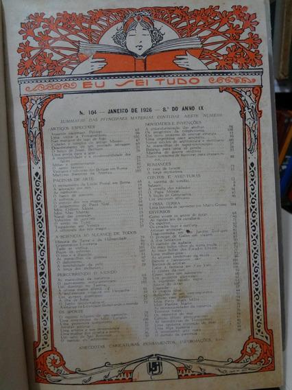 6 Revistas Eu Sei Tudo Janeiro A Junho De 1926 Encadernadas