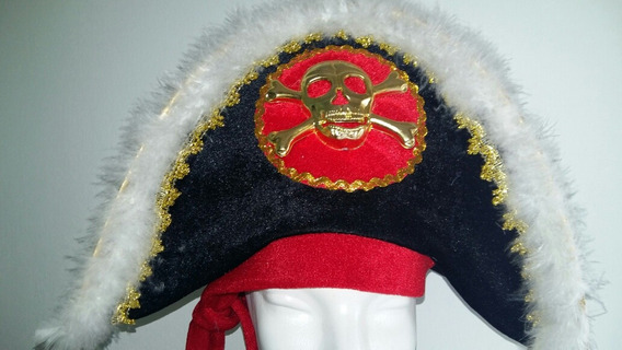 Gorro Pirata Calavera Dorada