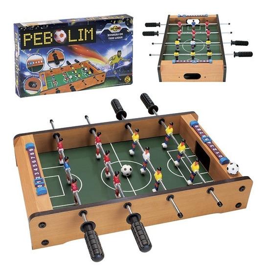 Mesa Pebolim Portatil Jogo De Futebol De Mesa
