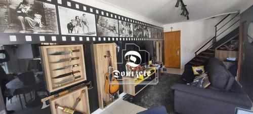 Cobertura Com 2 Dormitórios À Venda, 132 M² Por R$ 1.150.000,00 - Jardim - Santo André/sp - Co11523