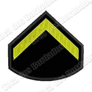 Imagem 1 de 3 de Patch Bordado Divisa Soldado 6x6,5cm C/ Fixador Velcro® Mlt8