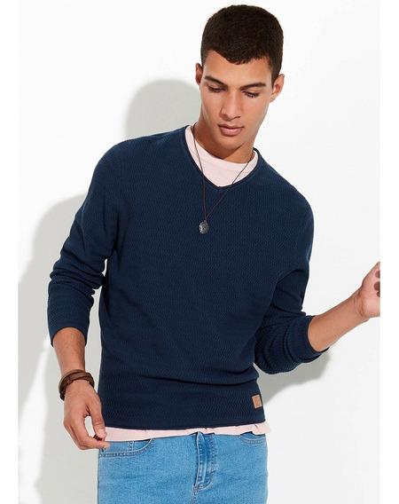 Blusão Masculino Básico Em Tricô Com Textura Comfort Hering