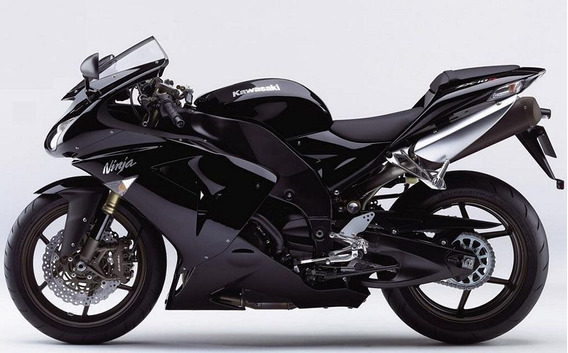 Kit Adesivos Moto Kawasaki Ninja Zx-10r 2007 Preta Ccr11483